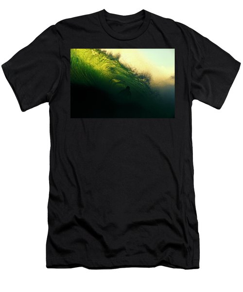 Green And Black Men's T-Shirt (Athletic Fit)