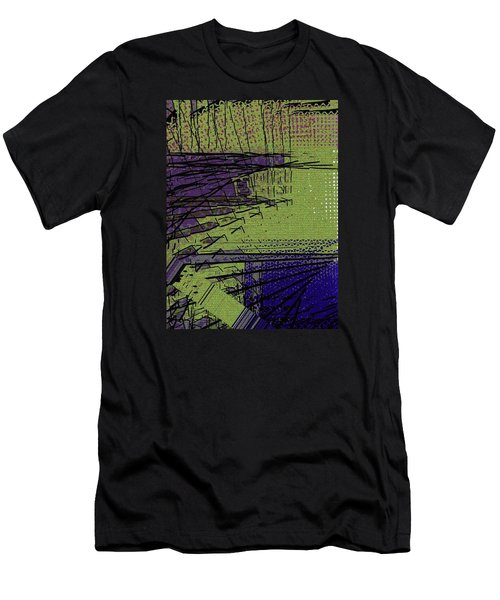 Green And Purple Field Men's T-Shirt (Athletic Fit)