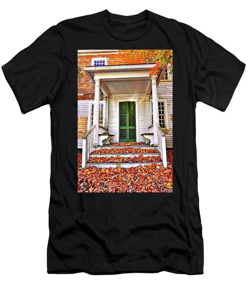 Green Autumn Door Men's T-Shirt (Athletic Fit)