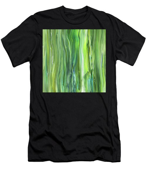 Green Blue Organic Abstract Art For Interior Decor V Men's T-Shirt (Athletic Fit)