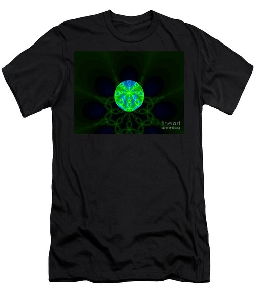 Green Blue World Fractal  Men's T-Shirt (Athletic Fit)