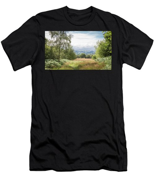 Green Corridor Men's T-Shirt (Athletic Fit)