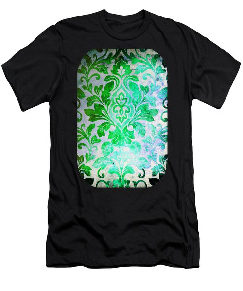 Green Damask Pattern Men's T-Shirt (Athletic Fit)