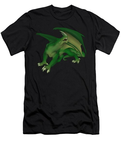 Green Dragon Men's T-Shirt (Slim Fit) by Gaynore Craps
