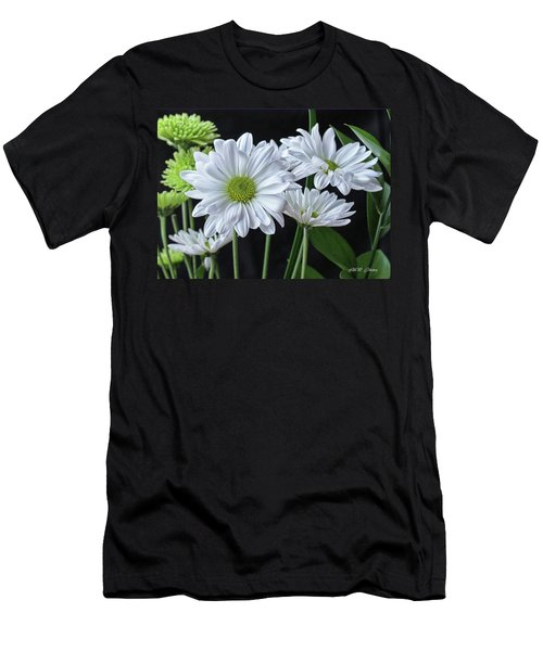 Men's T-Shirt (Slim Fit) featuring the photograph Green Eyed Daisy by Bonnie Willis