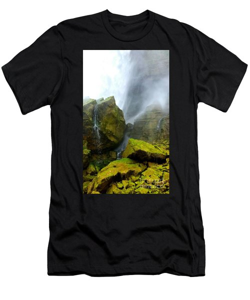 Men's T-Shirt (Slim Fit) featuring the photograph Green Falls by Raymond Earley
