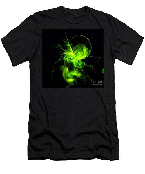 Green Flame Fractal Men's T-Shirt (Athletic Fit)