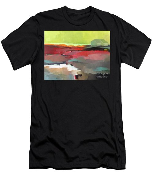 Men's T-Shirt (Athletic Fit) featuring the painting Green Flash by Michelle Abrams