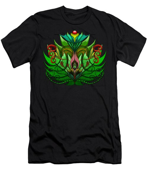 Green Flower Men's T-Shirt (Athletic Fit)
