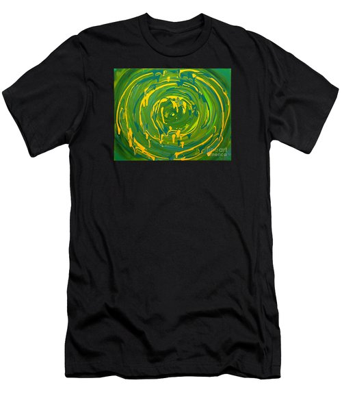 Green Forest Swirl Men's T-Shirt (Athletic Fit)