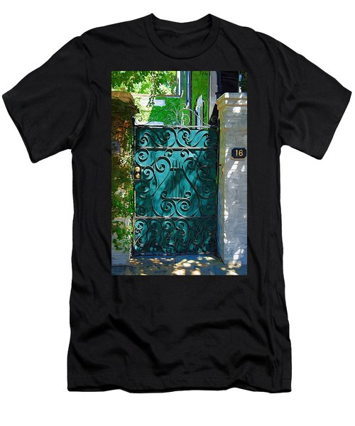 Men's T-Shirt (Athletic Fit) featuring the photograph Green Gate by Donna Bentley