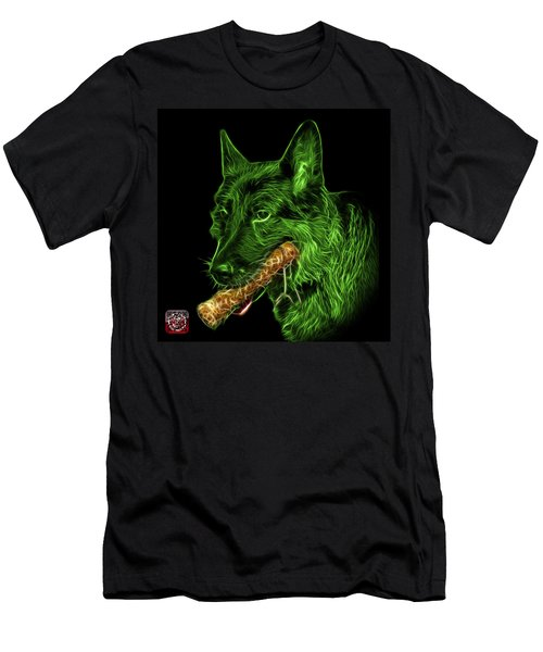 Green German Shepherd And Toy - 0745 F Men's T-Shirt (Athletic Fit)
