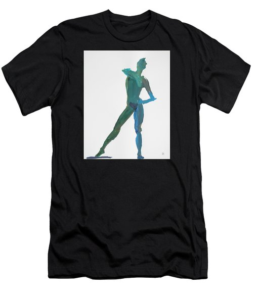 Green Gesture 2 Pointing Men's T-Shirt (Athletic Fit)