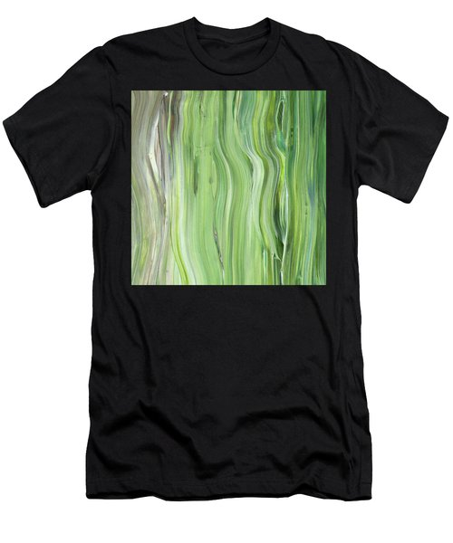 Green Gray Organic Abstract Art For Interior Decor II Men's T-Shirt (Athletic Fit)