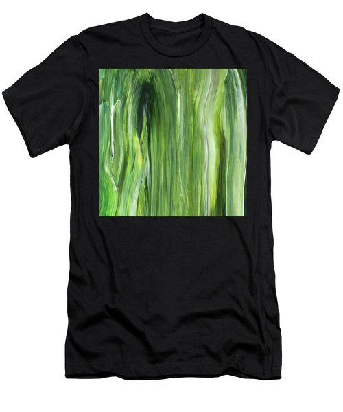 Green Gray Organic Abstract Art For Interior Decor IIi Men's T-Shirt (Athletic Fit)