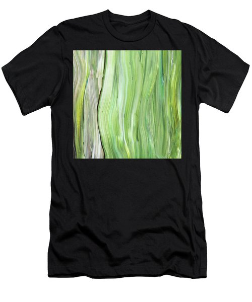 Green Gray Organic Abstract Art For Interior Decor Vi Men's T-Shirt (Athletic Fit)