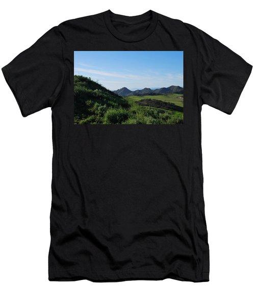 Men's T-Shirt (Athletic Fit) featuring the photograph Green Hills Landscape by Matt Harang