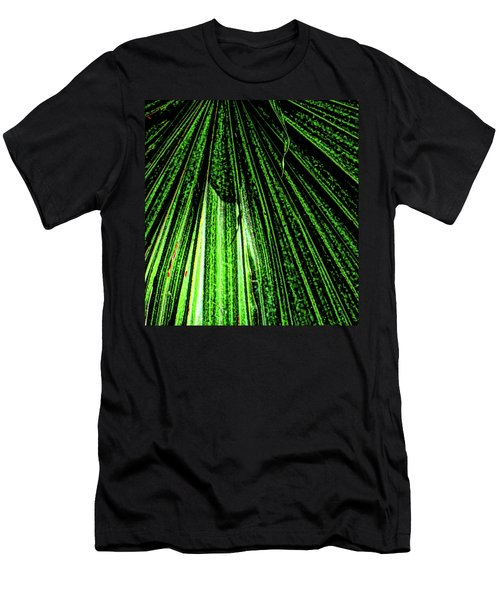 Green Leaf Forest Photo Men's T-Shirt (Slim Fit) by Gina O'Brien