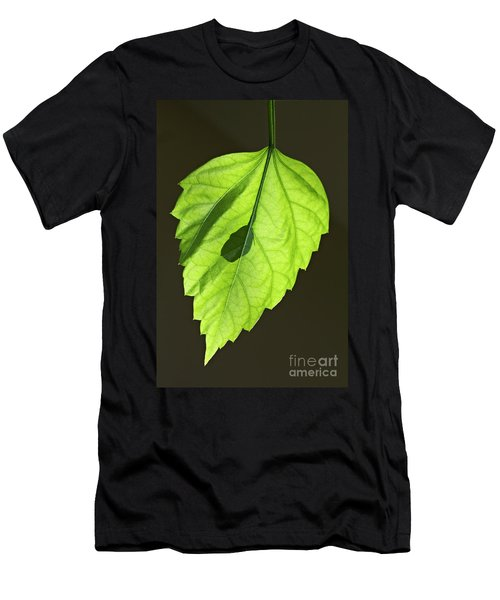 Green Hibiscus Leaf Men's T-Shirt (Athletic Fit)