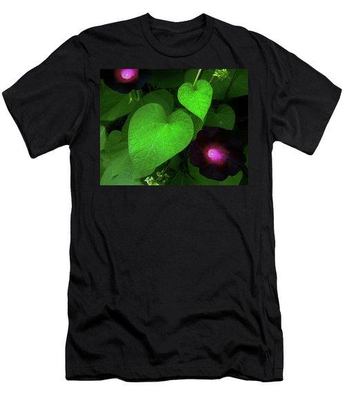 Green Leaf Violet Glow Men's T-Shirt (Athletic Fit)