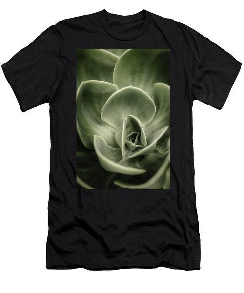 Men's T-Shirt (Slim Fit) featuring the photograph Green Leaves Abstract IIi by Marco Oliveira
