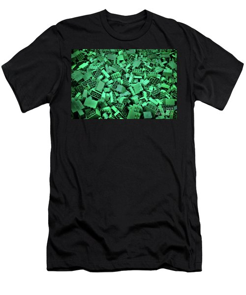 Green Lego Abstract Men's T-Shirt (Athletic Fit)