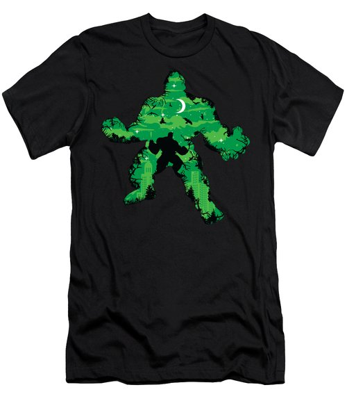 Green Monster Men's T-Shirt (Athletic Fit)