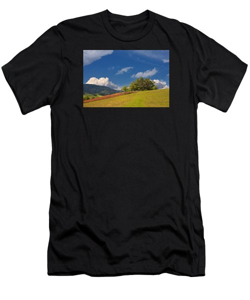 Men's T-Shirt (Athletic Fit) featuring the photograph Green Mountain Pasture by Ken Barrett