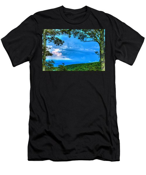 Green Mountain Storm Men's T-Shirt (Athletic Fit)