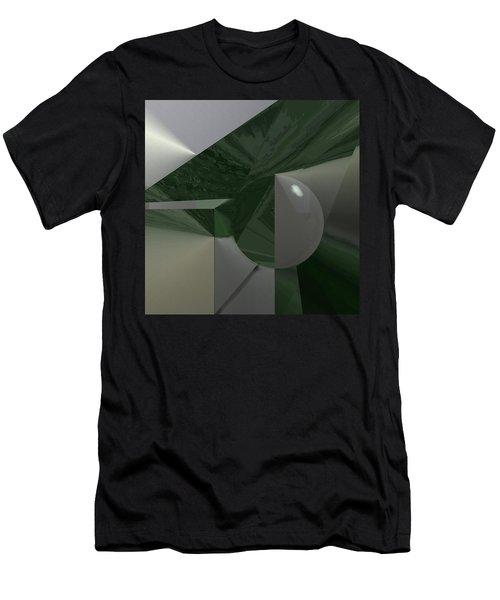 Green N Gray Men's T-Shirt (Athletic Fit)