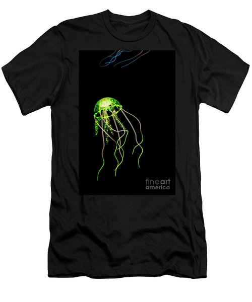 Green Neon Jellyfish Men's T-Shirt (Athletic Fit)