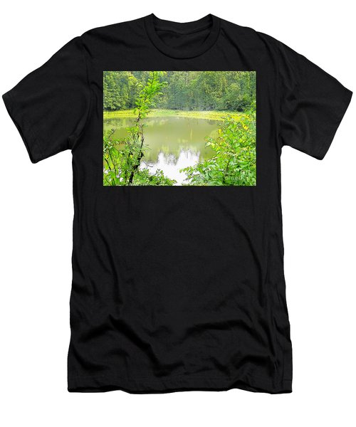 Green On Lake Men's T-Shirt (Athletic Fit)