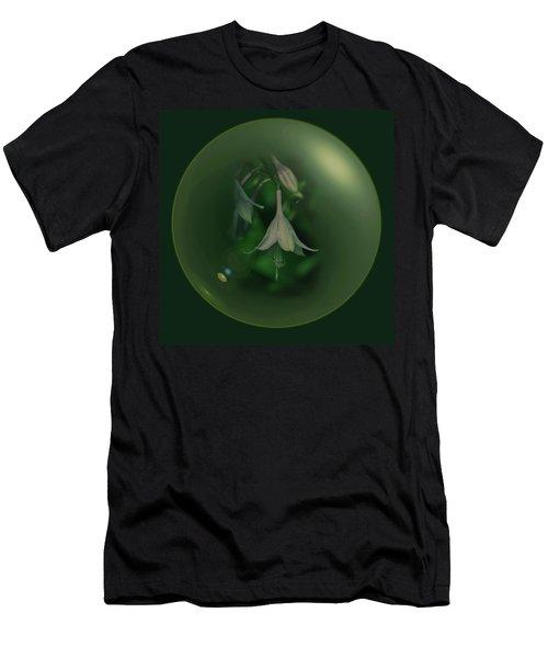 Green Orb Flower Men's T-Shirt (Athletic Fit)