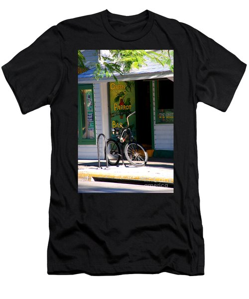 Green Parrot Bar Key West Men's T-Shirt (Athletic Fit)