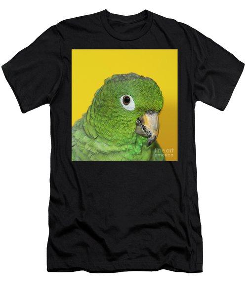 Green Parrot Head Shot Men's T-Shirt (Athletic Fit)