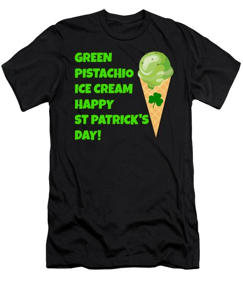 Green Pistachio Ice Cream Happy St Patricks Day Men's T-Shirt (Athletic Fit)