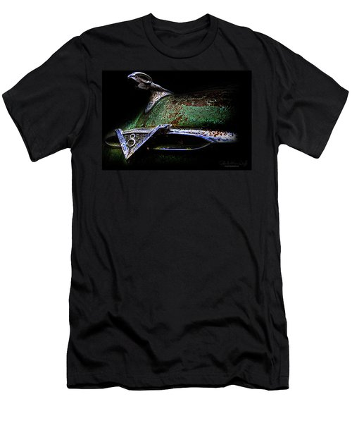 Men's T-Shirt (Athletic Fit) featuring the photograph Green Ram Emblem by Glenda Wright