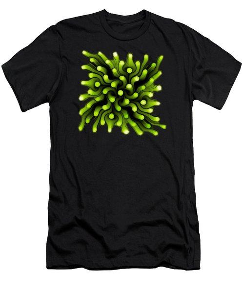 Green Sea Anemone Men's T-Shirt (Slim Fit) by Anastasiya Malakhova