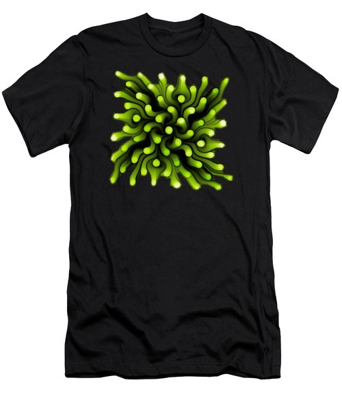 Green Sea Anemone Men's T-Shirt (Slim Fit)