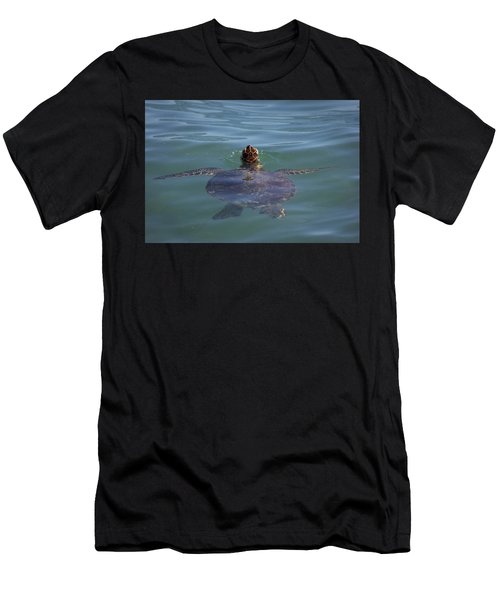 Men's T-Shirt (Athletic Fit) featuring the photograph Green Sea Turtle by RKAB Works