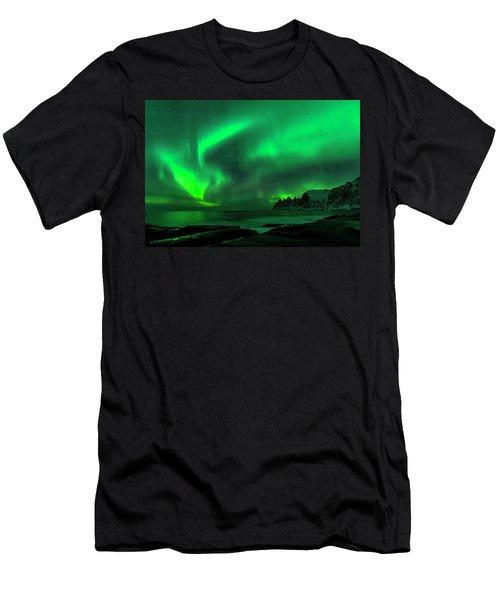 Green Skies At Night Men's T-Shirt (Athletic Fit)