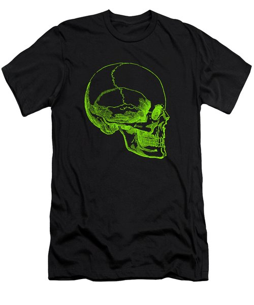 Men's T-Shirt (Athletic Fit) featuring the digital art Green Skull by Jennifer Hotai