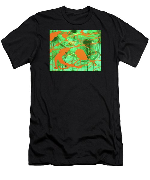 Green Spill Men's T-Shirt (Athletic Fit)