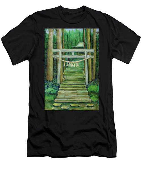 Green Stairway Men's T-Shirt (Athletic Fit)