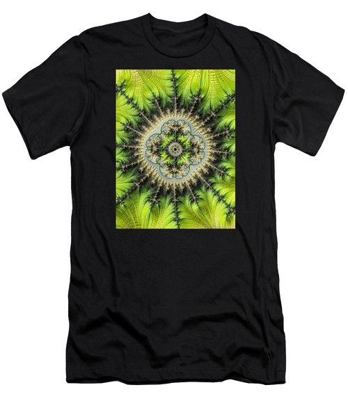 Men's T-Shirt (Slim Fit) featuring the photograph Green Star by Ronda Broatch