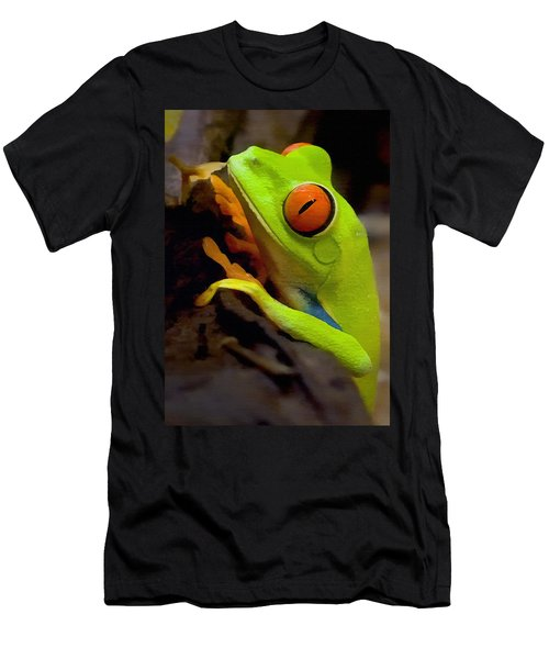Green Tree Frog Men's T-Shirt (Athletic Fit)