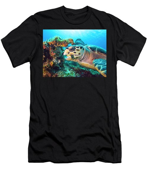 Green Turtle Dining Men's T-Shirt (Athletic Fit)