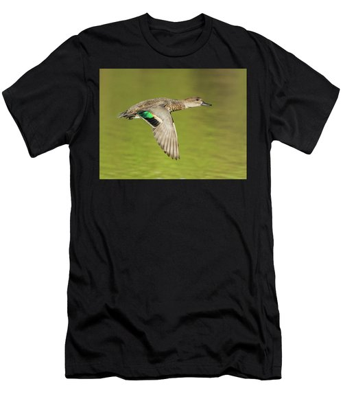Green-winged Teal 6320-100217-2cr Men's T-Shirt (Athletic Fit)