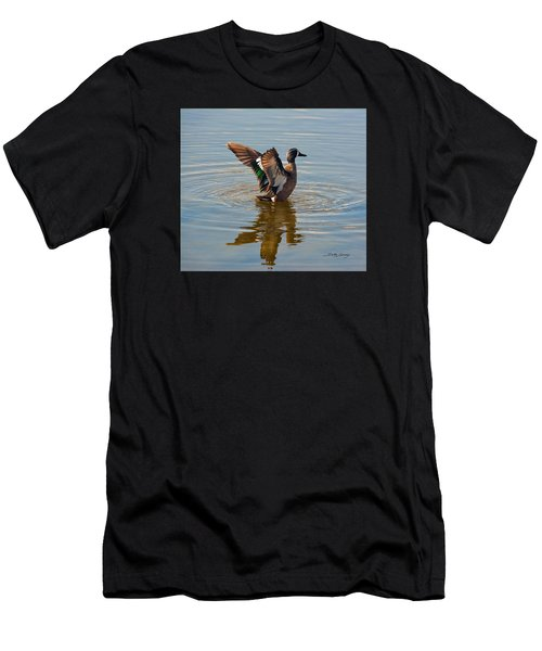 Blue Winged Teal Men's T-Shirt (Athletic Fit)
