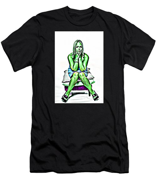 Green Woman Men's T-Shirt (Slim Fit) by Bob Pardue